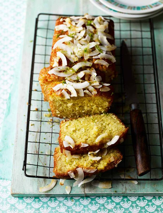 Recipe: Lime and coconut drizzle cake