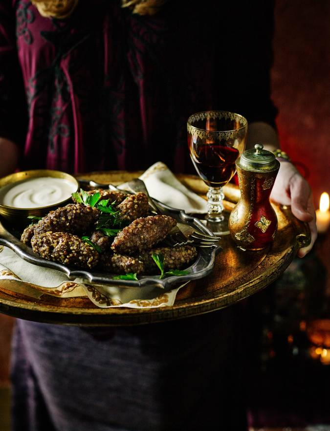 Recipe: Lamb kibbeh stuffed with mozzarella and pine nuts