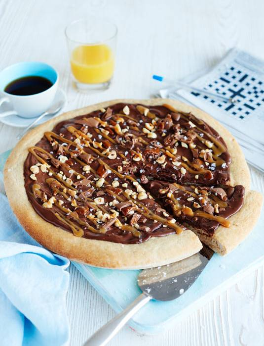 Recipe: Salted caramel and chocolate pizza