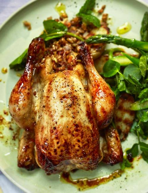 Recipe: Poussins stuffed with spelt
