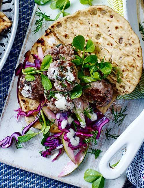 Recipe: Swedish-style beef patties with apple slaw