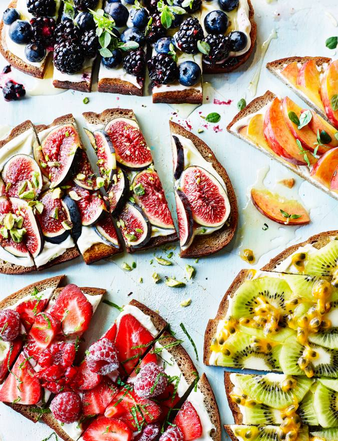 Recipe: Rainbow fruit tartines