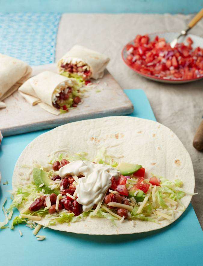 Recipe: Chilli bean burritos