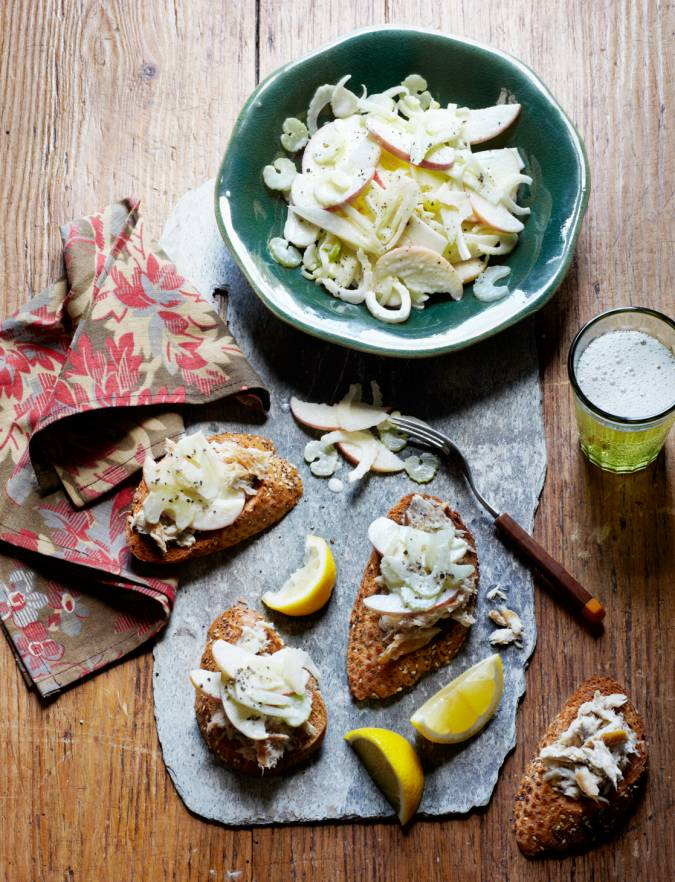 Recipe: Smoked mackerel pâté with apple, celery and fennel slaw