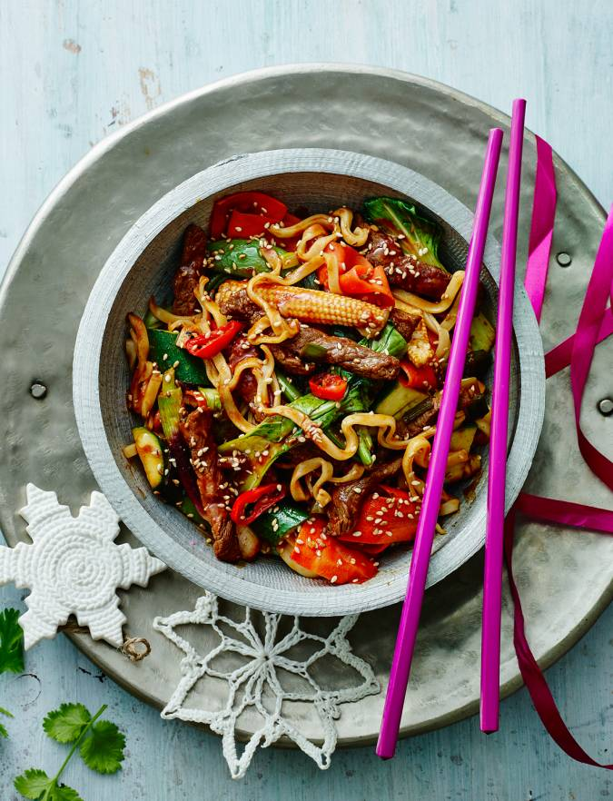 Recipe: Korean barbecue beef stir-fry with noodles
