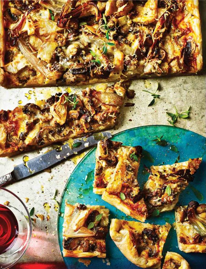 Recipe: Celeriac, shallot and mushroom tart