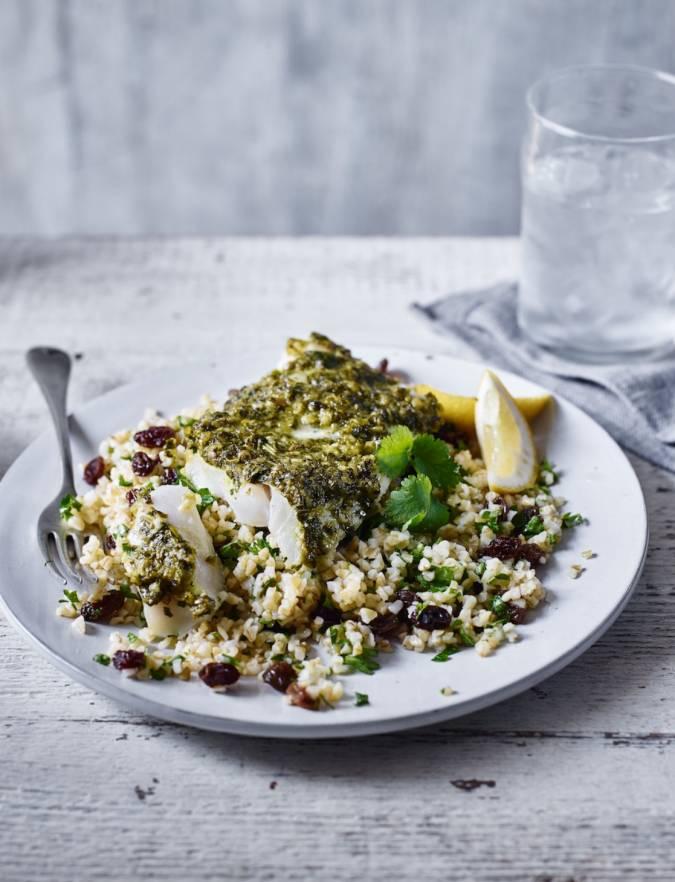 Recipe: Chermoula cod with bulgar salad