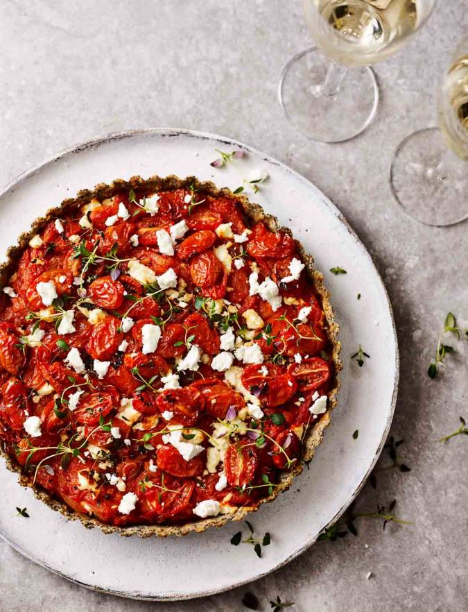 Recipe: Tomato and feta tart with poppy seed pastry