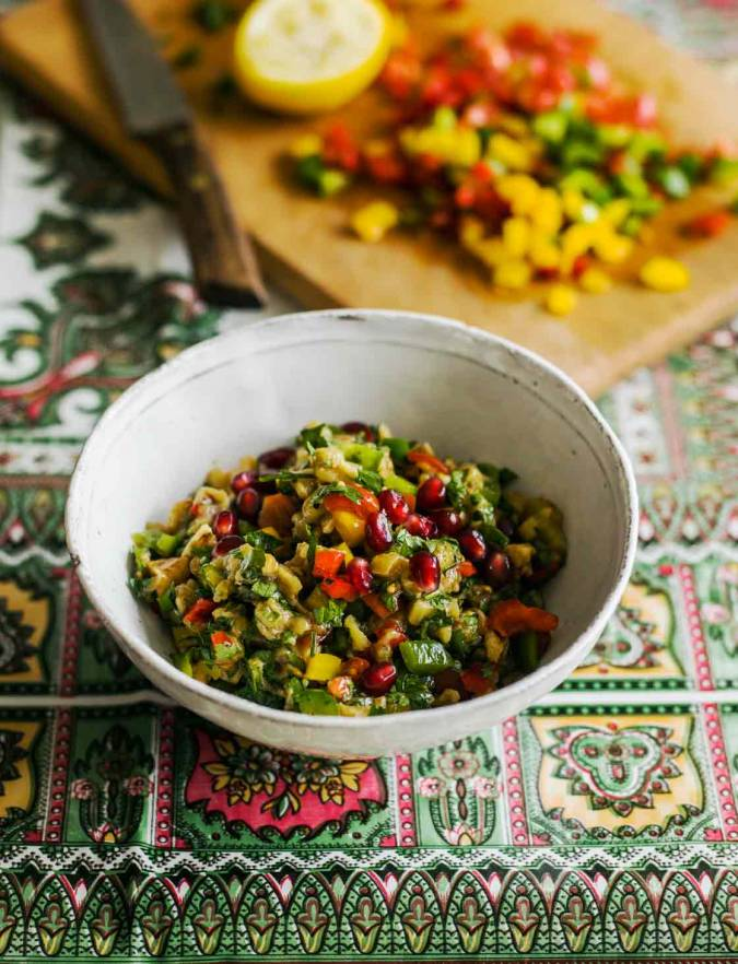 Recipe: Smoked aubergine salad