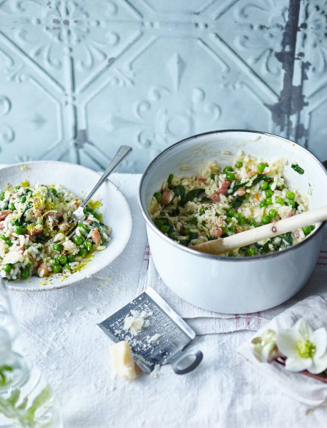 Recipe: Spring vegetable and pancetta risotto