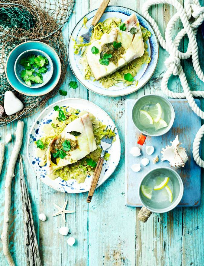 Recipe: Smoked haddock with leeks, lime and curry butter