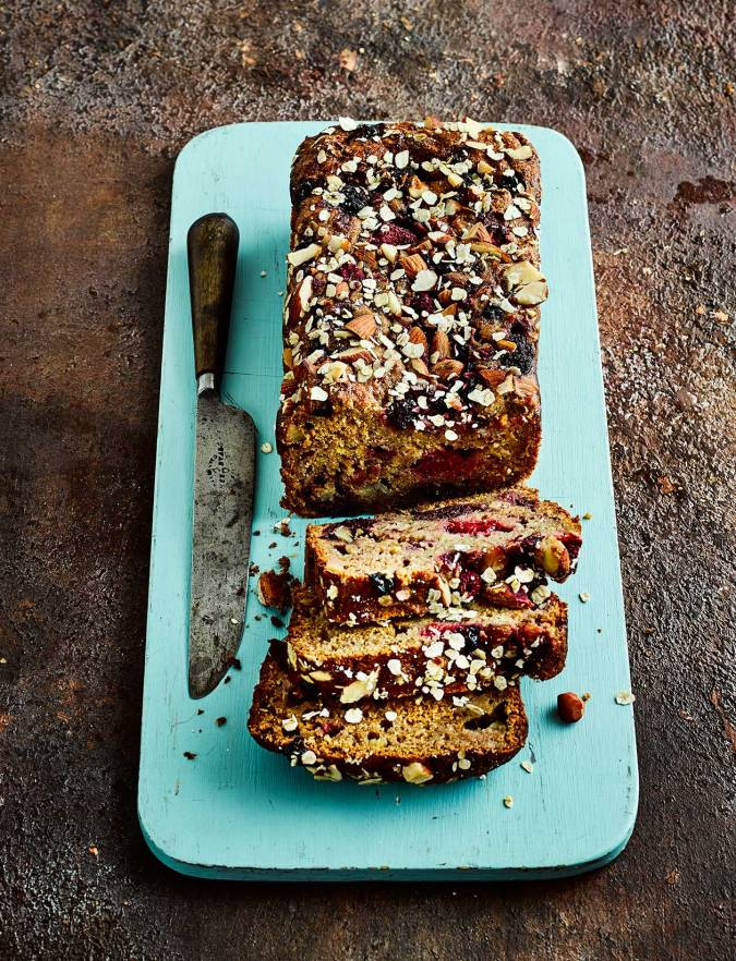 Recipe: Honeyed fruit and almond banana loaf