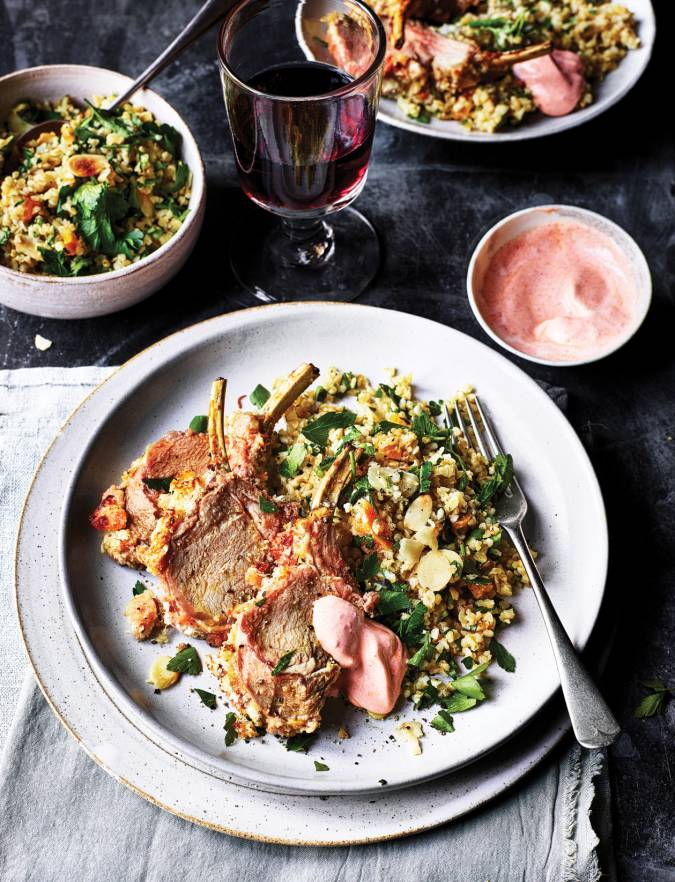 Recipe: Halloumi-crusted lamb rack