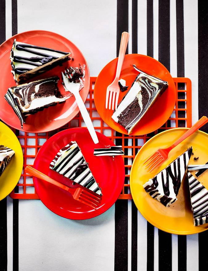 Recipe: Zebra chocolate cheesecake