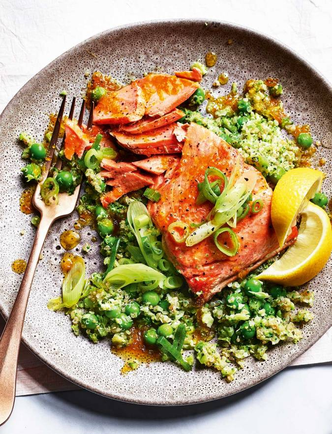 Recipe: Citrus salmon with green quinoa