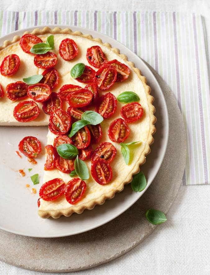 Recipe: Slow-roasted tomato and Parmesan tart
