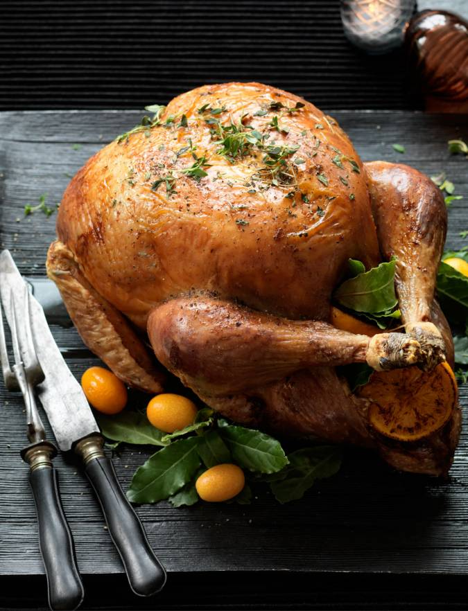 Recipe: Classic roast turkey with chestnut stuffing balls
