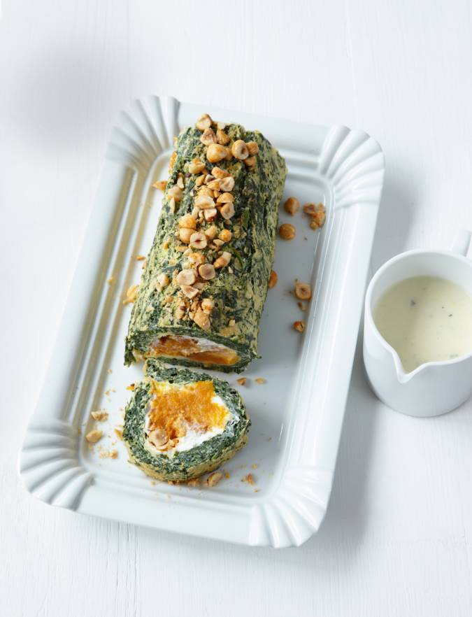Recipe: Spinach and butternut squash roulade