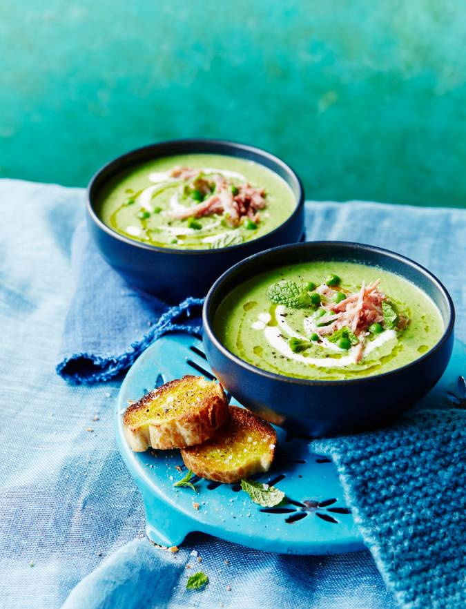 Recipe: Pea and mint soup with ham hock
