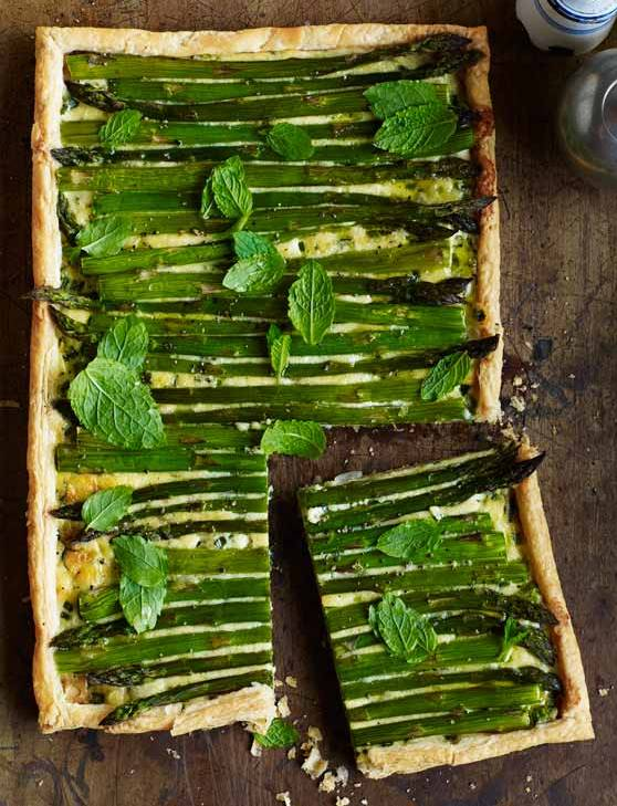 Recipe: Asparagus, spring onion and mint tart