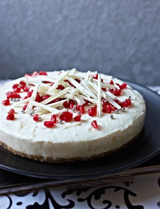 Recipe: Double ginger and white chocolate cheesecake