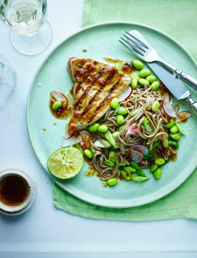 Recipe: Soy and ginger tuna with soba noodles