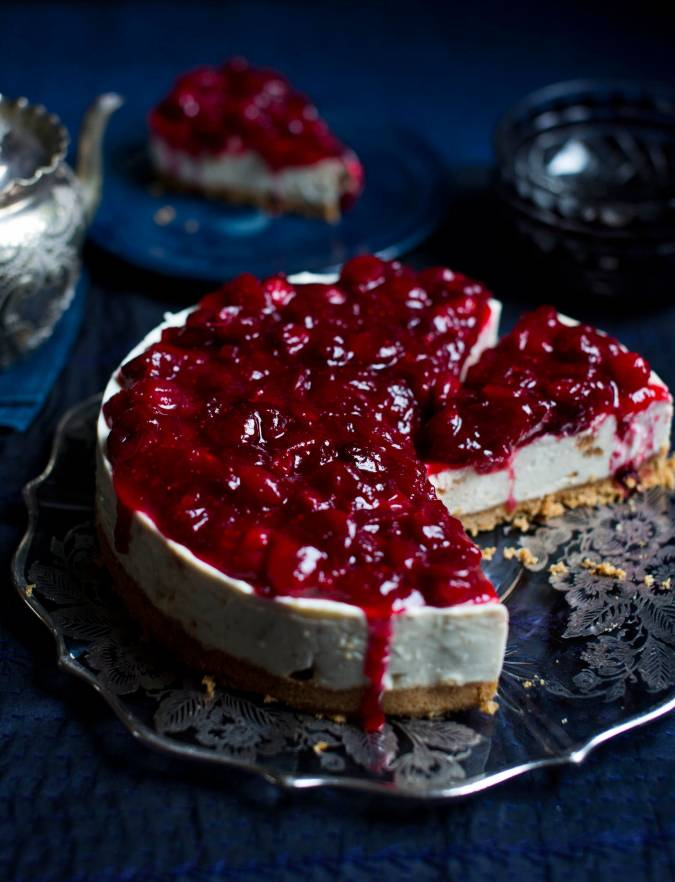Recipe: Cranberry and amaretto cheesecake