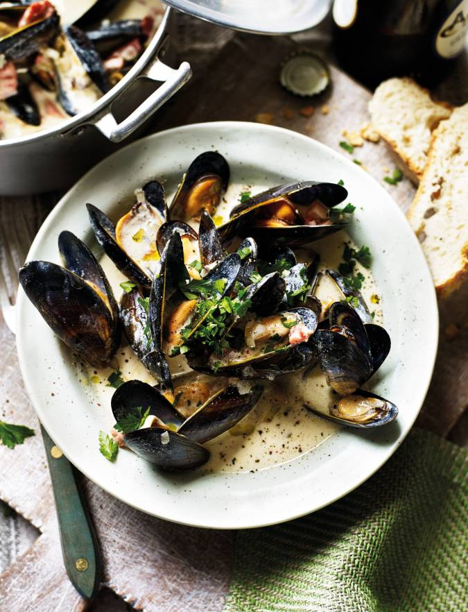 Recipe: Somerset mussels