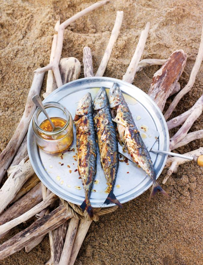 Recipe: Barbecued mackerel with toasted fennel and chilli