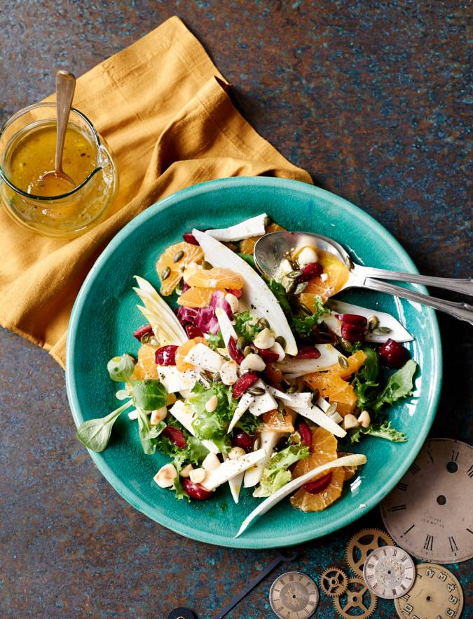 Recipe: Clementine, cherry and feta salad