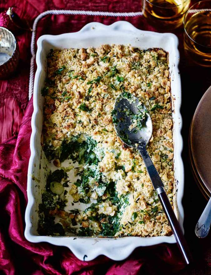 Recipe: Spinach and ricotta crumble