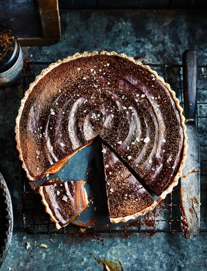 Recipe: Miso butterscotch chocolate tart