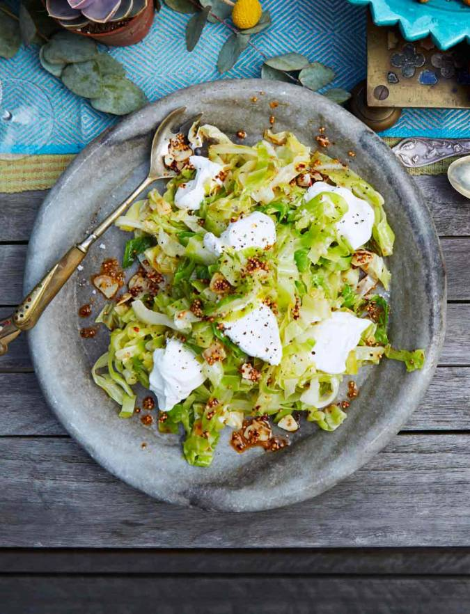 Recipe: Spring greens with garlic, chilli and yogurt