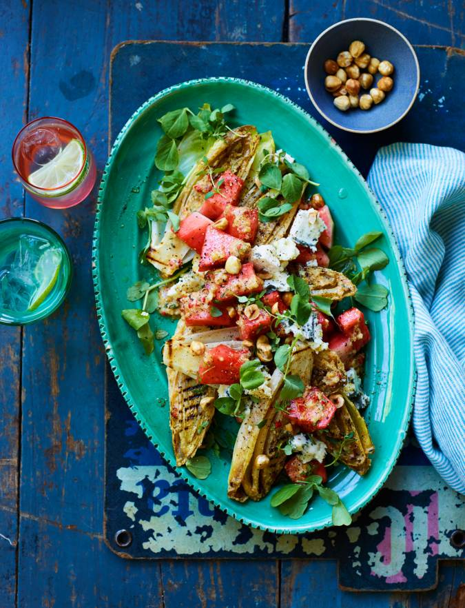 Recipe: Pickled Watermelon and blue cheese salad