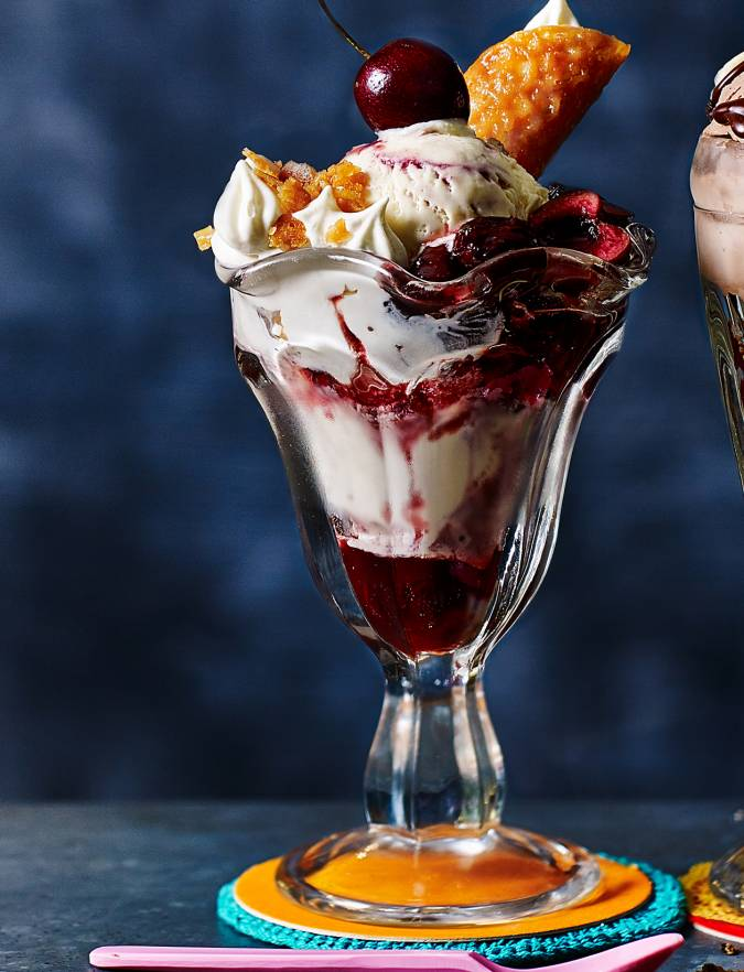 Recipe: Cherry Bakewell sundae