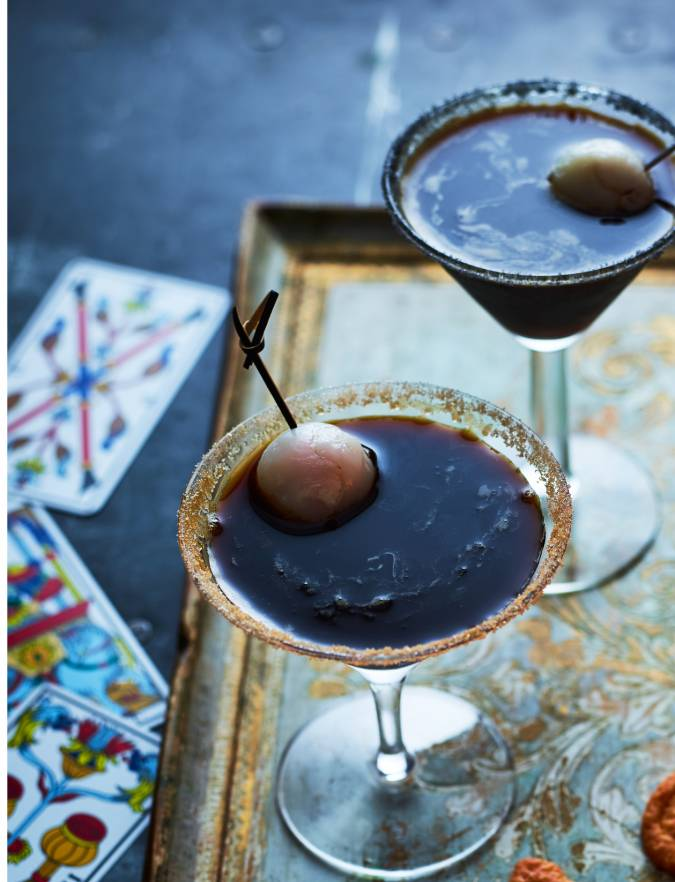 Recipe: Black magic Martini