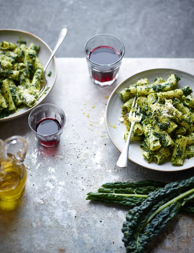 Recipe: Rigatoni with cavolo nero and olive oil