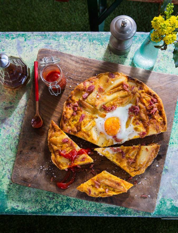Recipe: Ham, egg and chip tortilla