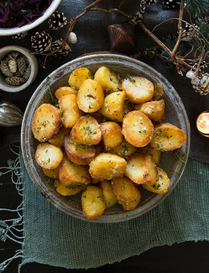 Recipe: Butter and thyme roast potatoes