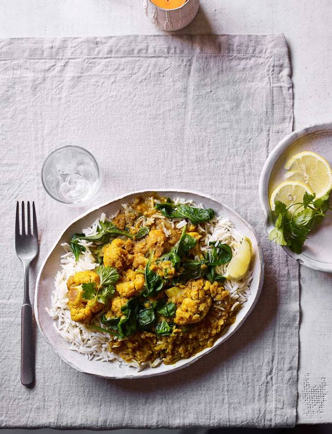 Recipe: Keralan cauliflower and lentil curry