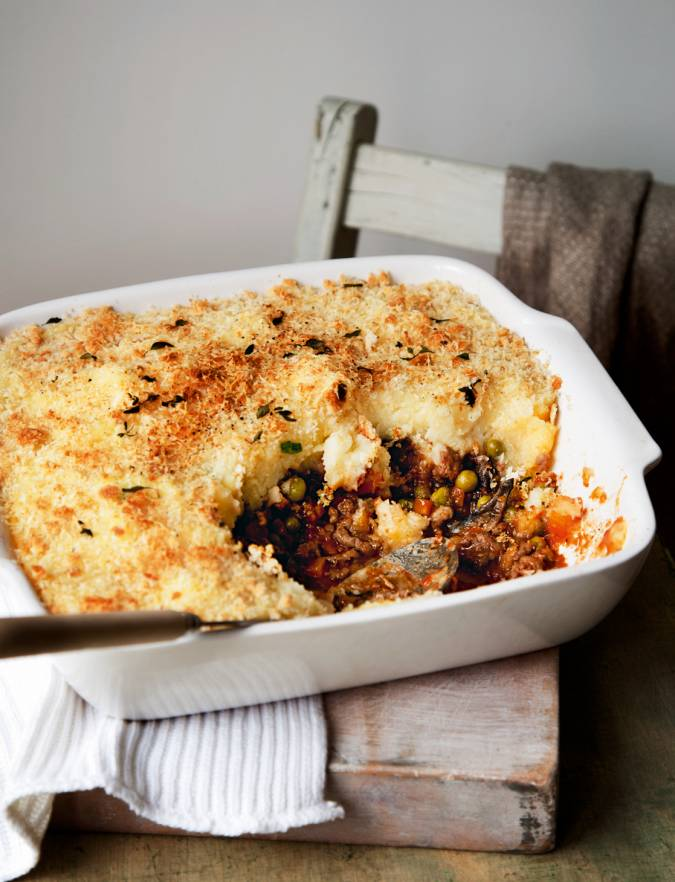 Recipe: Cottage pie with cheesy onion mash