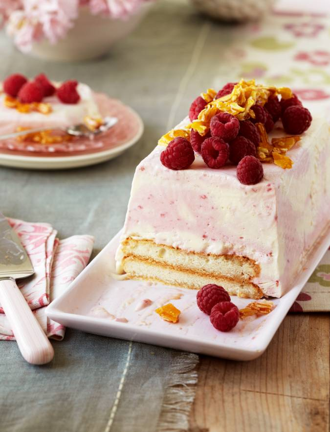 Recipe: Frozen raspberry trifle terrine