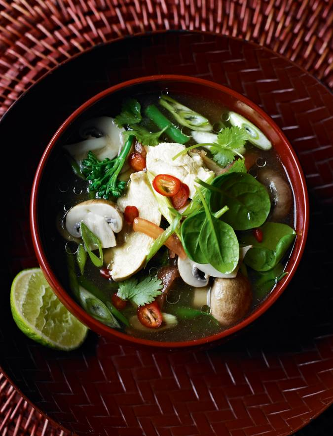 Recipe: Hot and sour Thai chicken soup