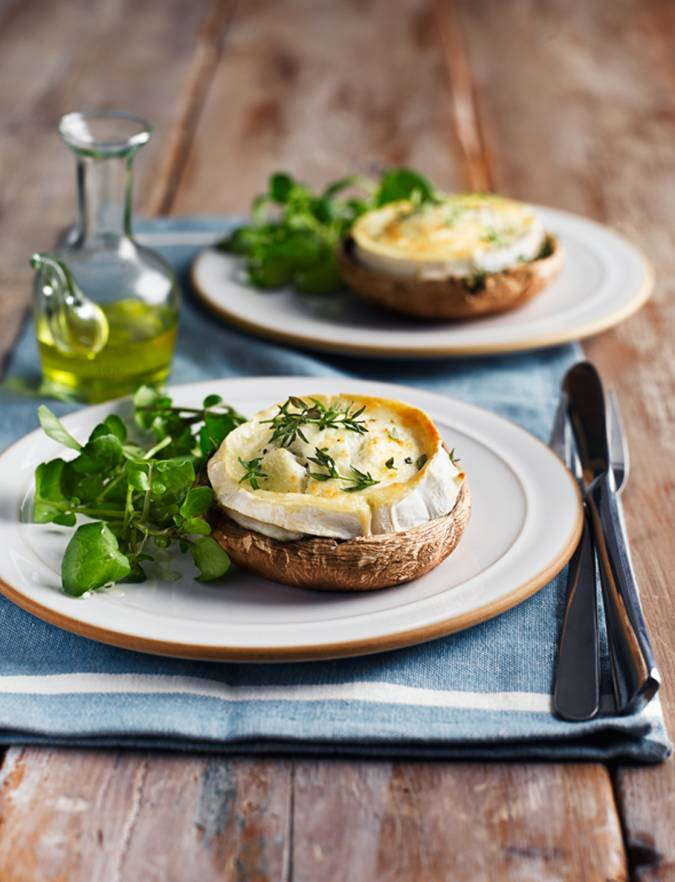 Recipe: French goats' cheese on mushrooms