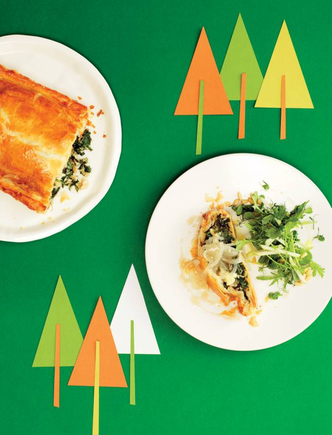 Recipe: Spinach, Wensleydale and toasted hazelnut wellington