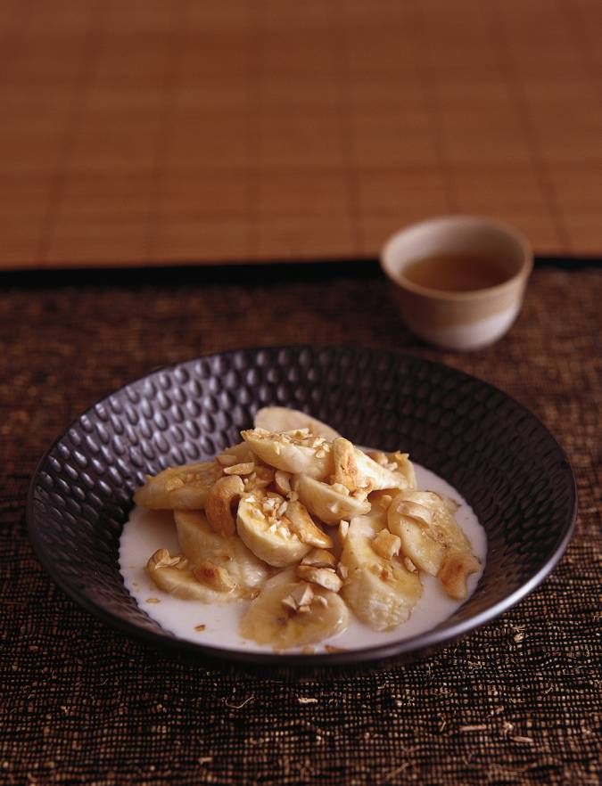 Recipe: Coconut bananas with maple syrup