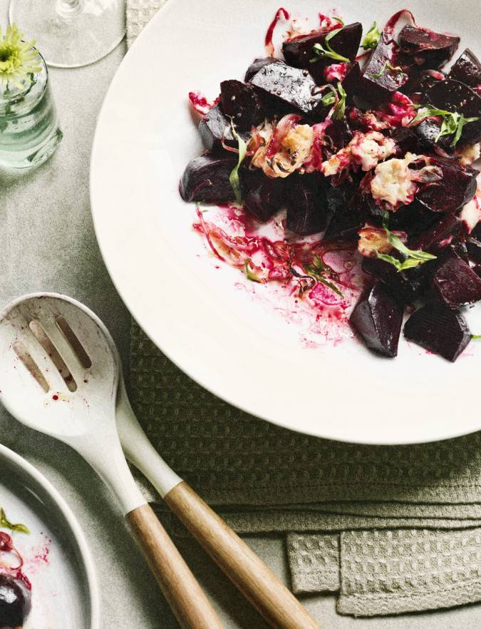 Recipe: Warm beetroot with goats' cheese and tarragon