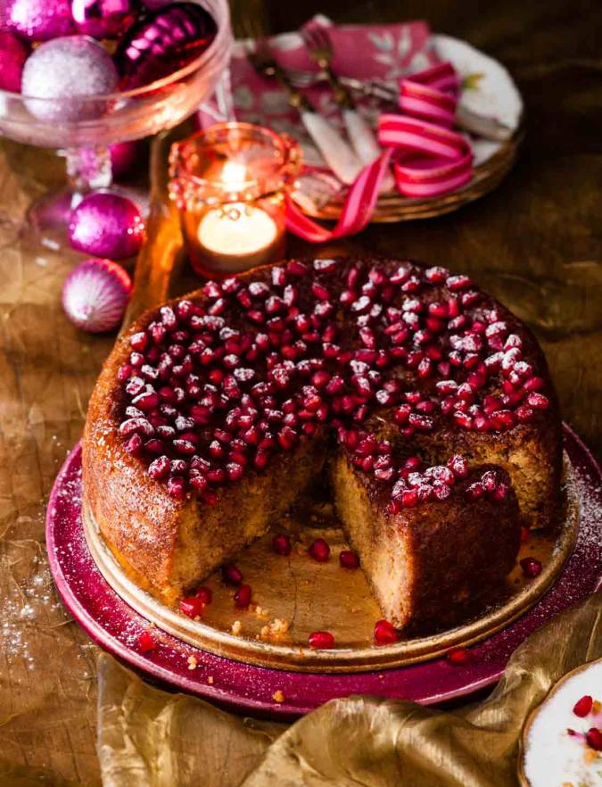 Recipe: Gluten-free clementine and pomegranate cake