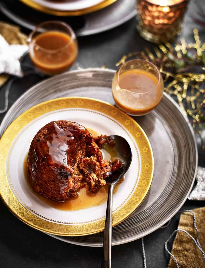 Recipe: Gluten-free mini Christmas puddings with spiced toffee sauce