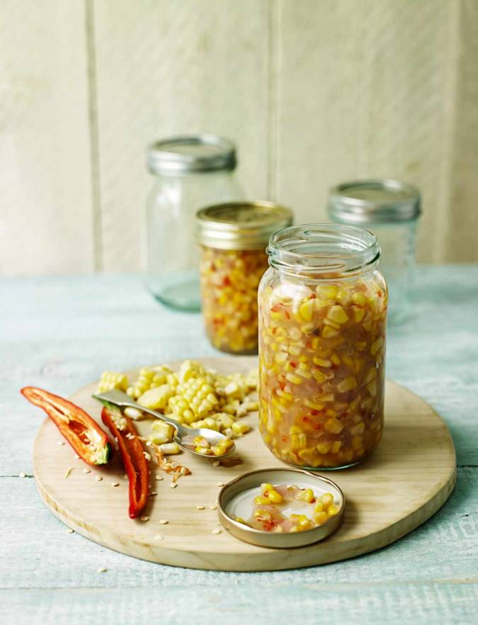 Recipe: Sweetcorn relish with a touch of chilli